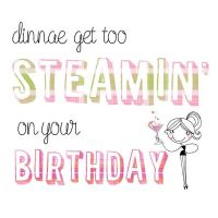 Pink Pig - Card - Steamin' Birthday